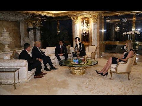 Ivanka bersama Donald Trump dan Shinzo Abe